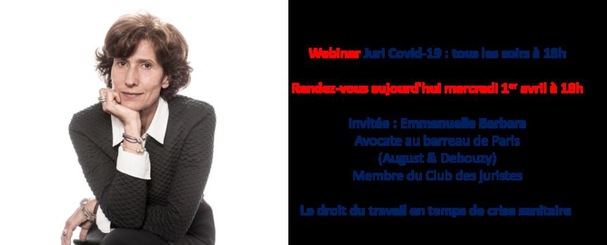 Webinar Emmanuelle Barbara, Avocate Au Barreau De Paris
