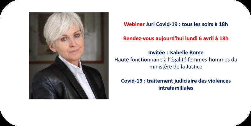 Webinar Isabelle Rome, Ministère De La Justice